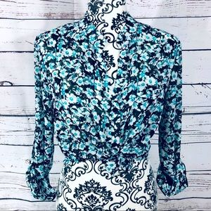 Kut from the Kloth Jasmine Floral Blouse Small